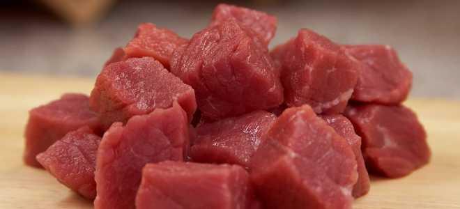Заморозка готового мяса