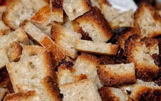 Правила приготовления сухарей из хлеба в домашних условиях