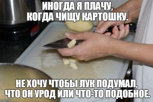 Мем про картошку и лук