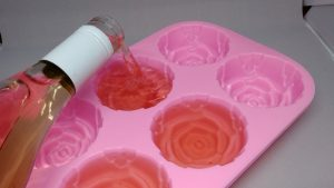 Заморозка розового вина