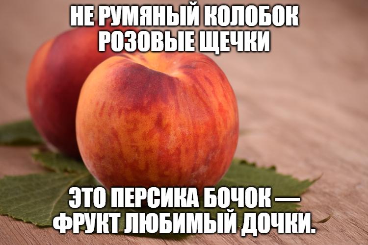 Два красивых персика