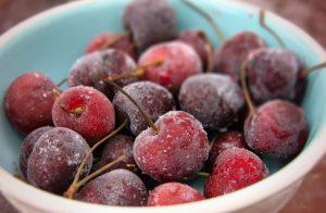 Замороженные ягоды черешни